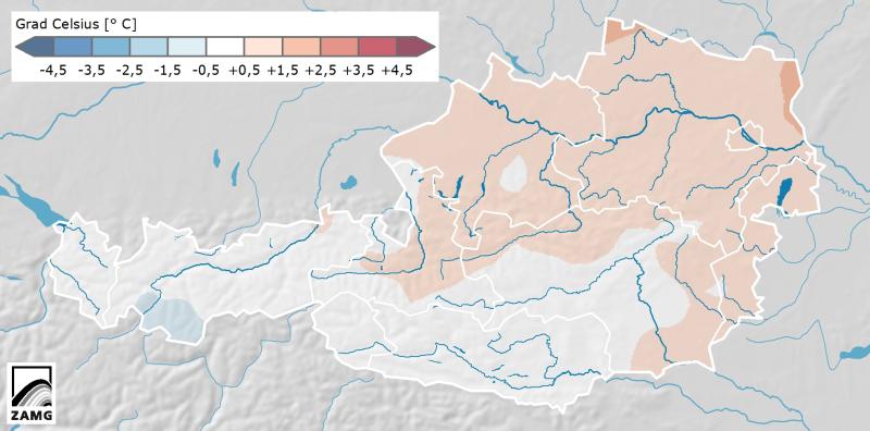 Temperaturabweichung Juli 2014