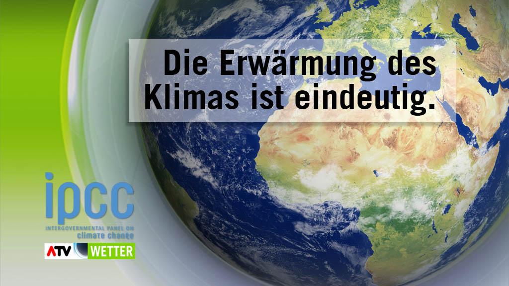 Grundaussage des Weltklima-Berichtes 2013