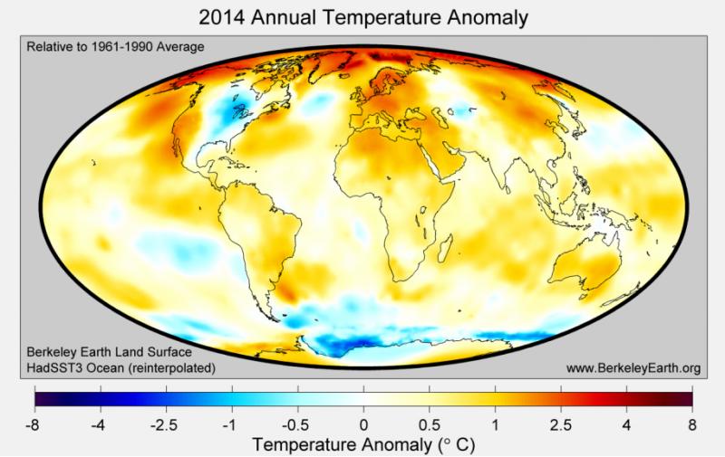 2014 - Globale Temperaturanomalie
