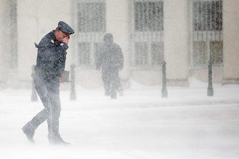Blizzard über Wien