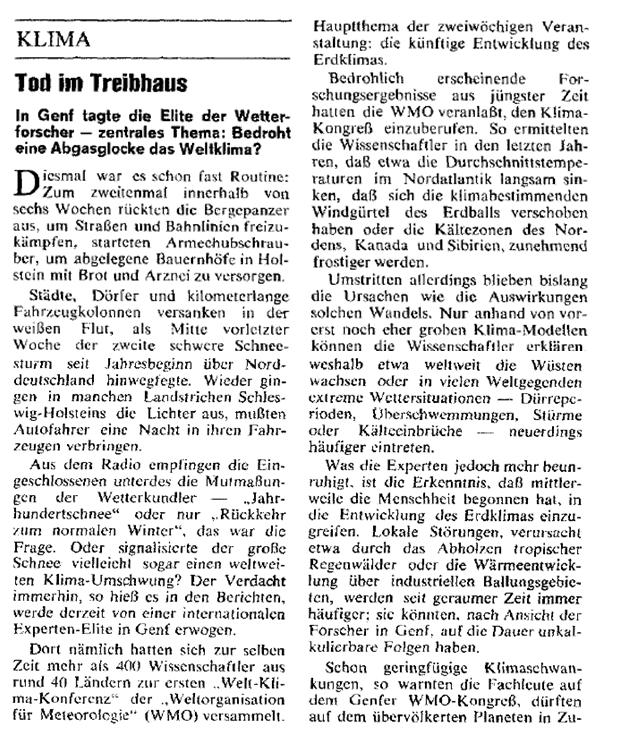 """Der Spiegel: """"Tod im Treibhaus"""""""