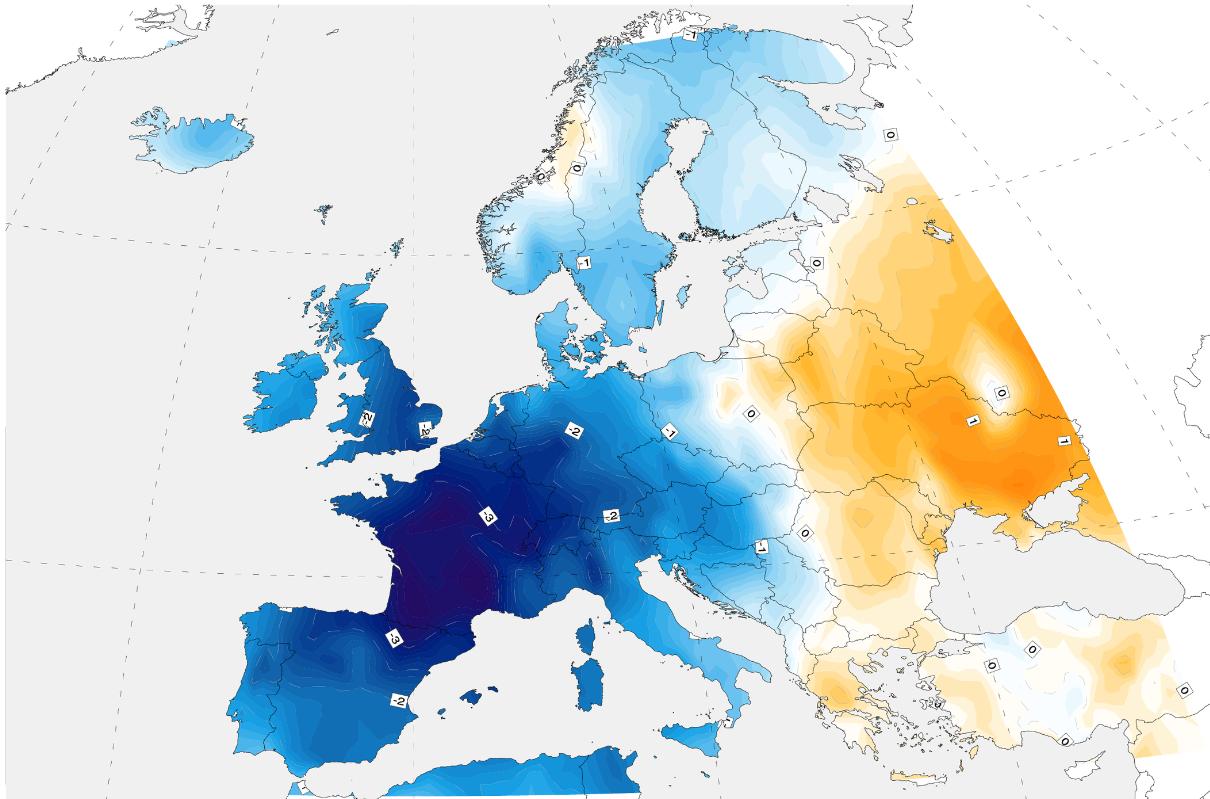 Temperaturabweichung Sommer 1816